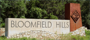 bloomfield hills sign