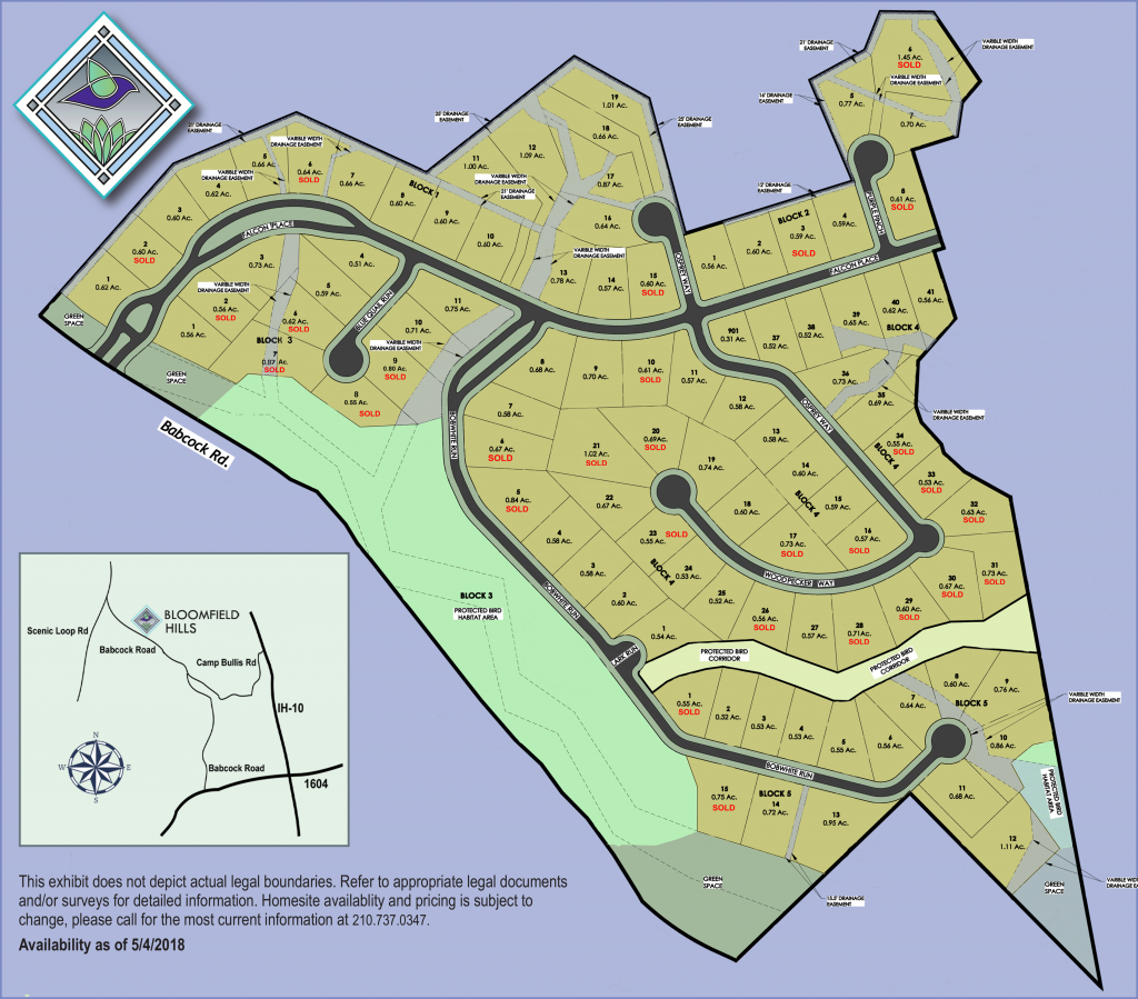 Bloomfield Hills plot map